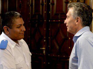 Chocobar fue recibido por el presidente Mauricio Macri