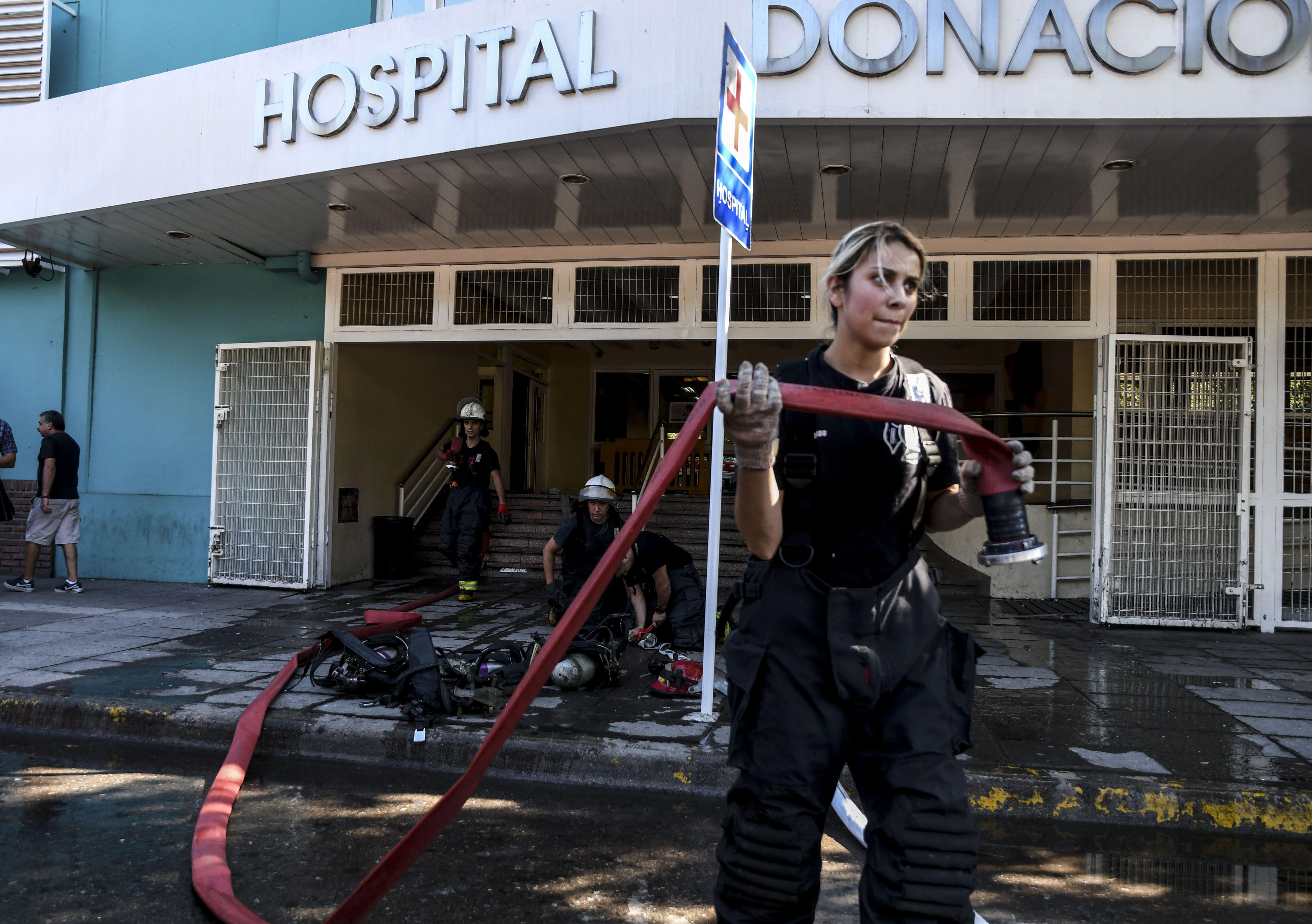Así quedó el subsuelo del Hospital Santojanni luego del incendio