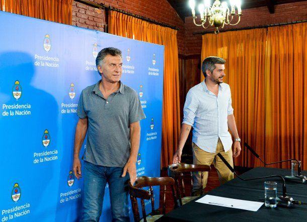 Conferencia de Macri y Peña en Chapadmalal - Crédito: Prensa Presidencia