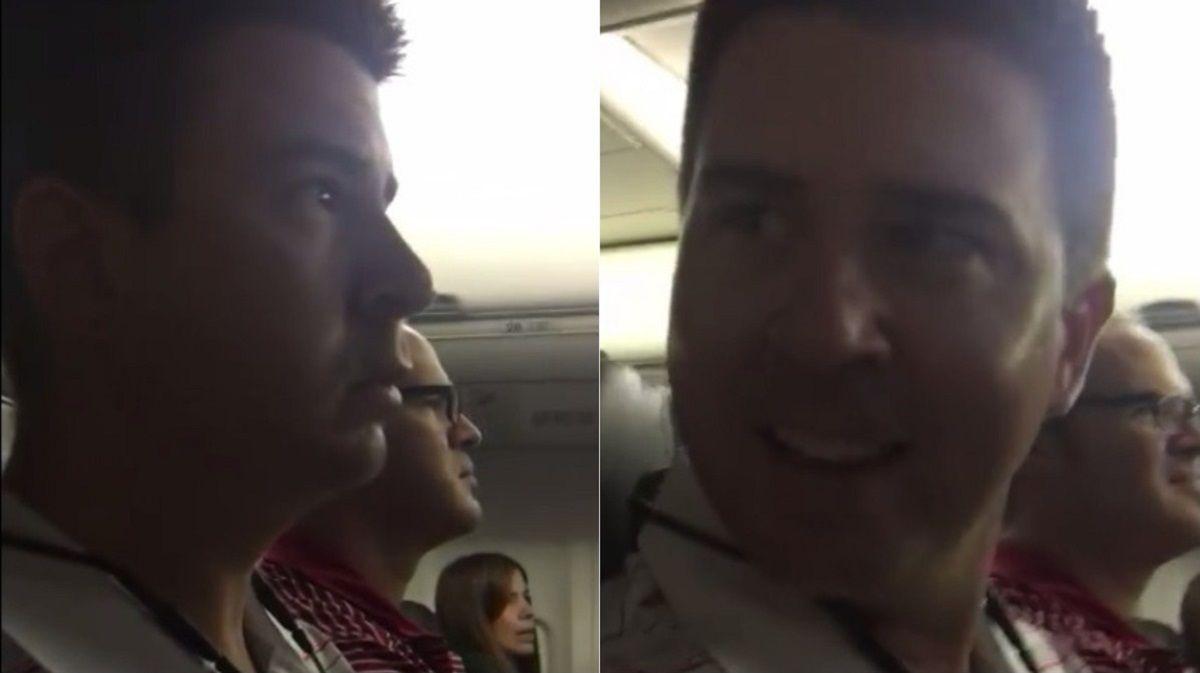 VIDEO: Se enteró que la esposa está embarazada a través del piloto del avión