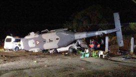 El accidente del helicóptero dejó al menos 13 muertos