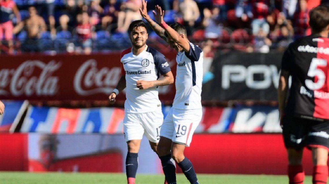 Gol de Rubén Botta para San Lorenzo - Crédito:@SanLorenzo