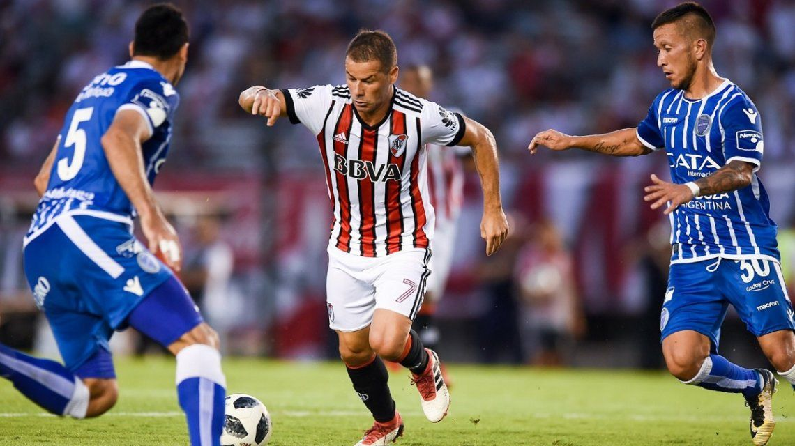 River se recuperó del 0-2 en el Monumental y se lo empató a Godoy Cruz