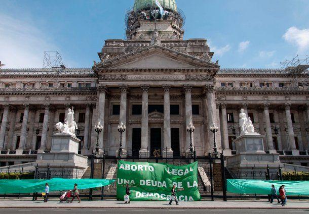 Marcha por el aborto en el Congreso Nacional<br>