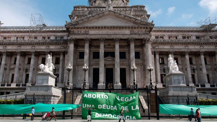 Marcha por el aborto en el Congreso Nacional