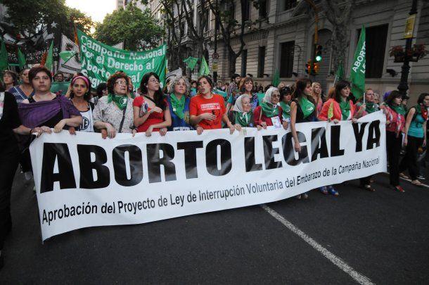 Una de las marchas en las que reclamaban por el aborto legal<br>