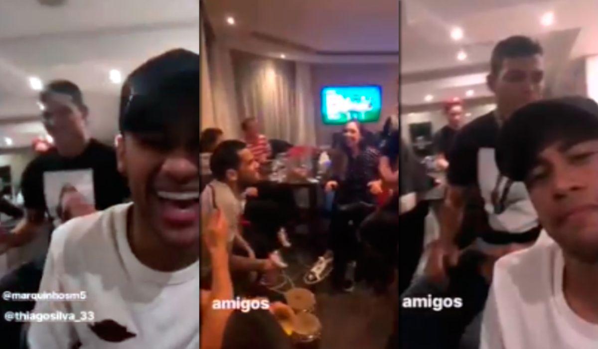Póker, música y tragos: la fiesta de Neymar y sus compañeros brasileños del PSG