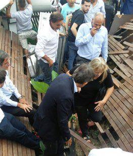 Se derrumbó parte del restaurante de Margarita Barrientos durante la inauguración