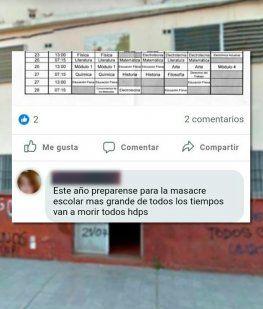 Un ex alumno amenazó con provocar una masacre en una escuela de Varela