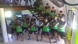 Los jugadores, copados con la coreografía