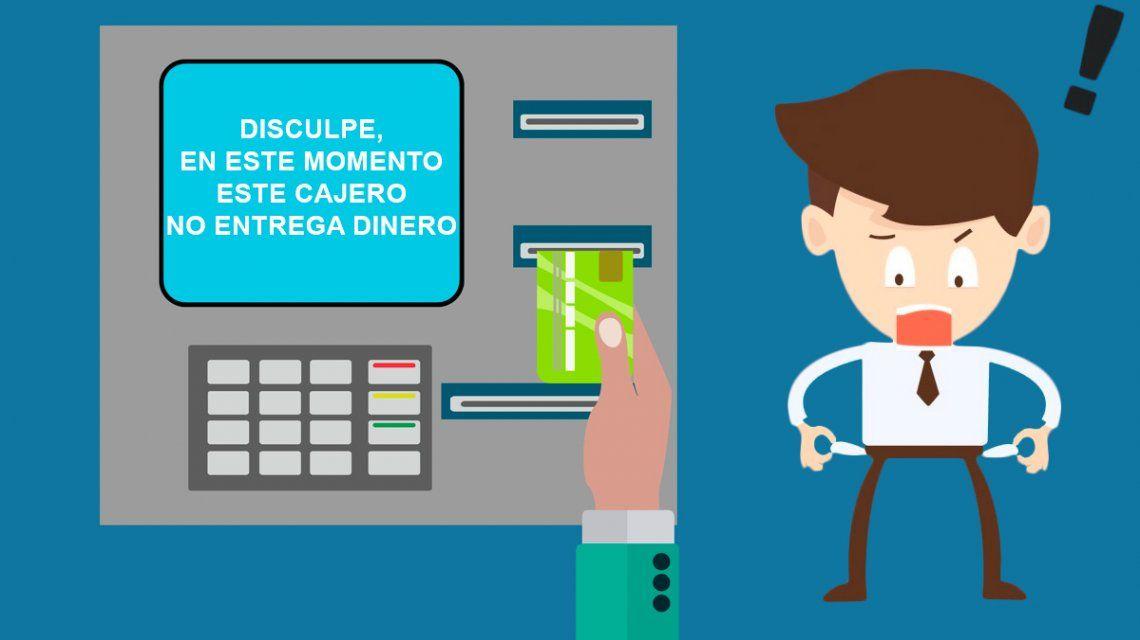 Por el paro puede faltar plata en los cajeros: las alternativas para sacar efectivo