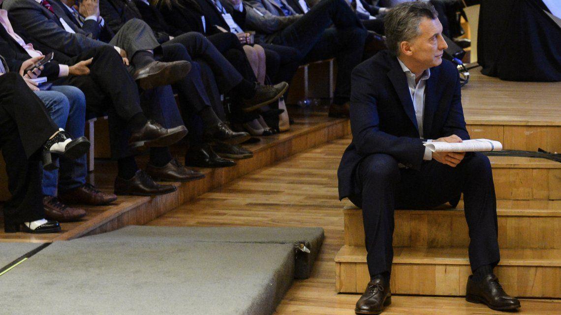 Mauricio Macri en el Centro Cultural Kirchner