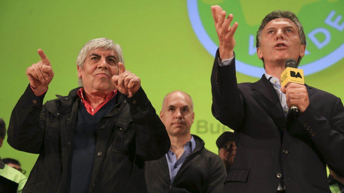 Hugo Moyano y Mauricio Macri