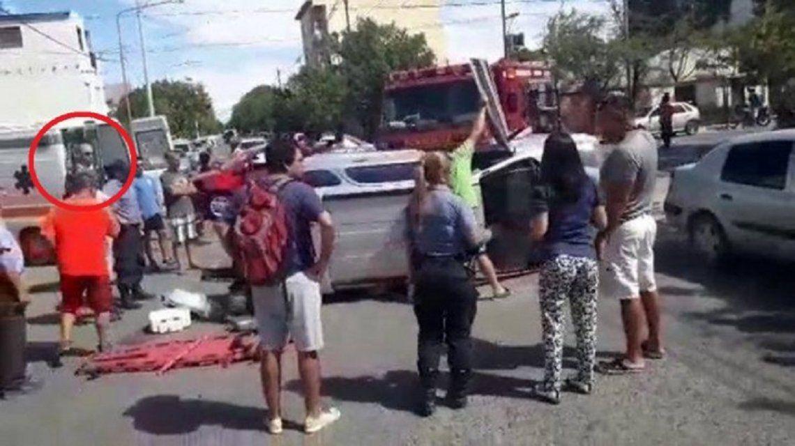 Misterio en Río Negro: aparece una extraña imagen en un accidente de tránsito
