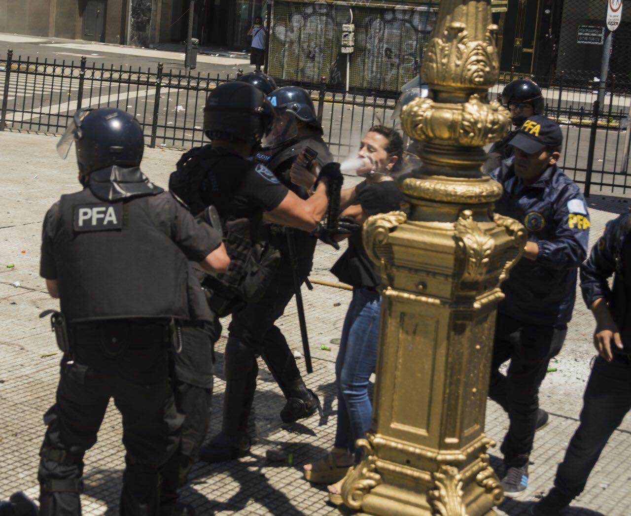 Amnistía Internacional mostró preocupación por la represión en Argentina