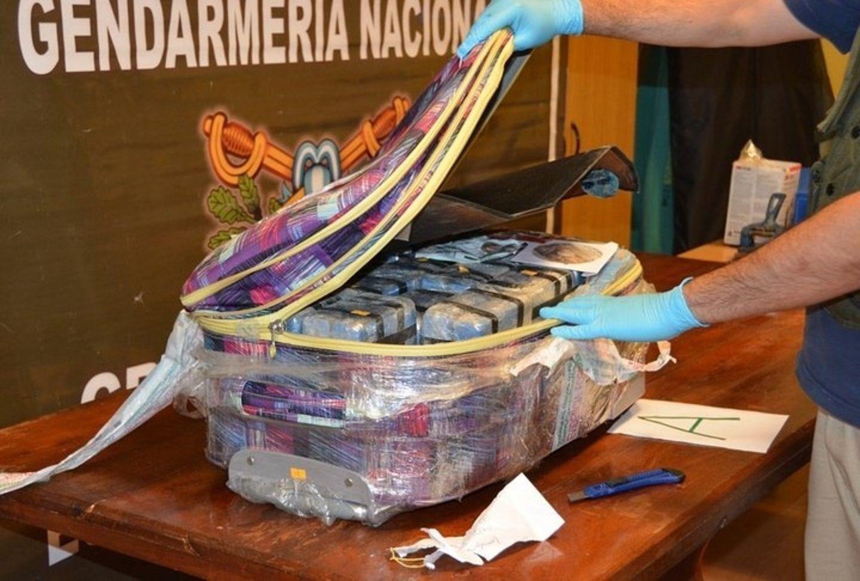 Las valijas con la droga