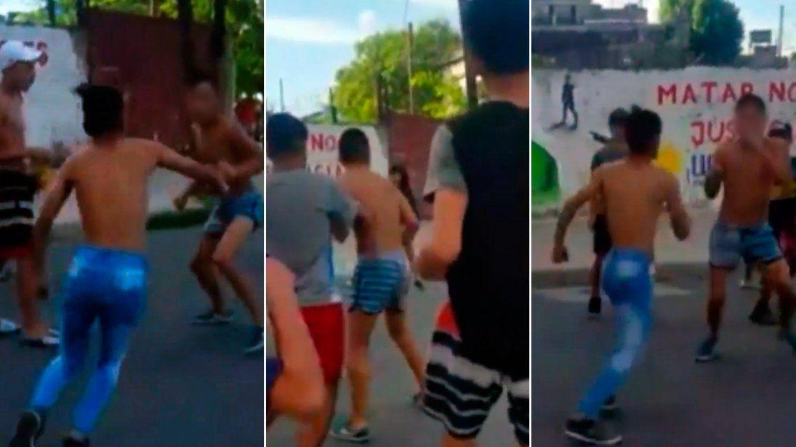 Batalla campal entre adolescentes en La Boca: un menor de 15 años fue demorado
