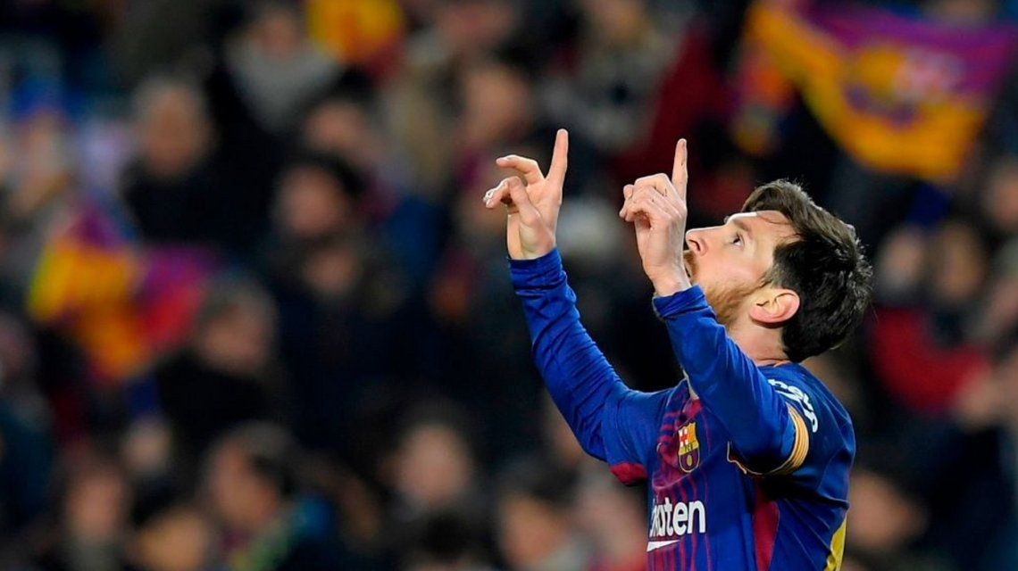 El mejor homenaje a su abuelo: Messi marcó dos en la goleada de Barcelona a Girona