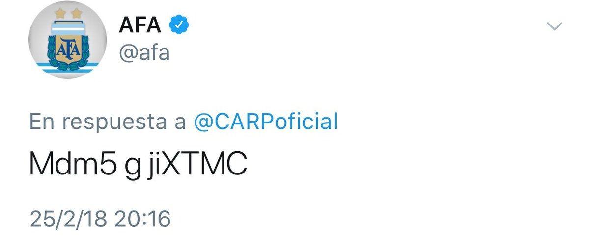 Denuncian que hackearon el Twitter de la AFA