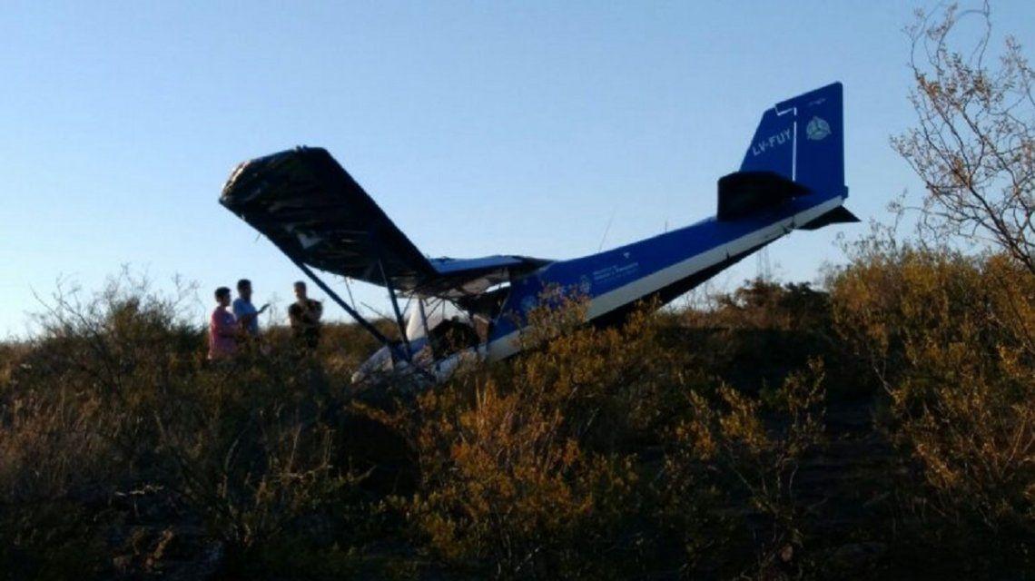 Avioneta caída en El Chocón