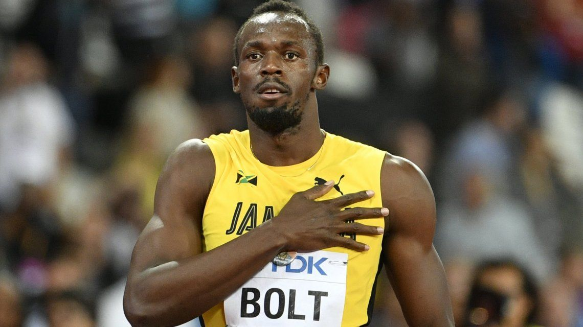 Bolt salió tercero en su última carrera de 100 metros