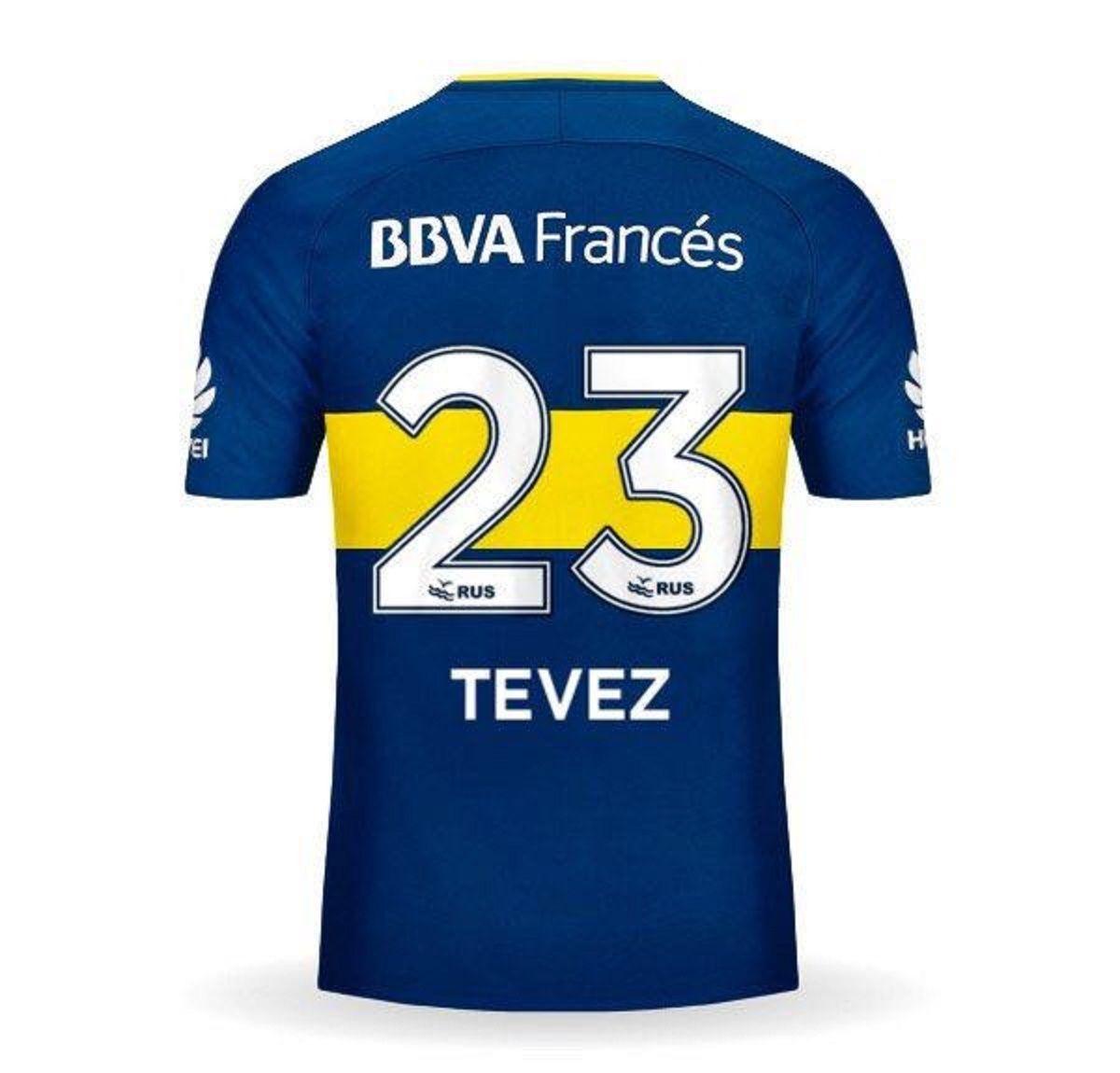 La 23 que utilizará Carlos Tevez
