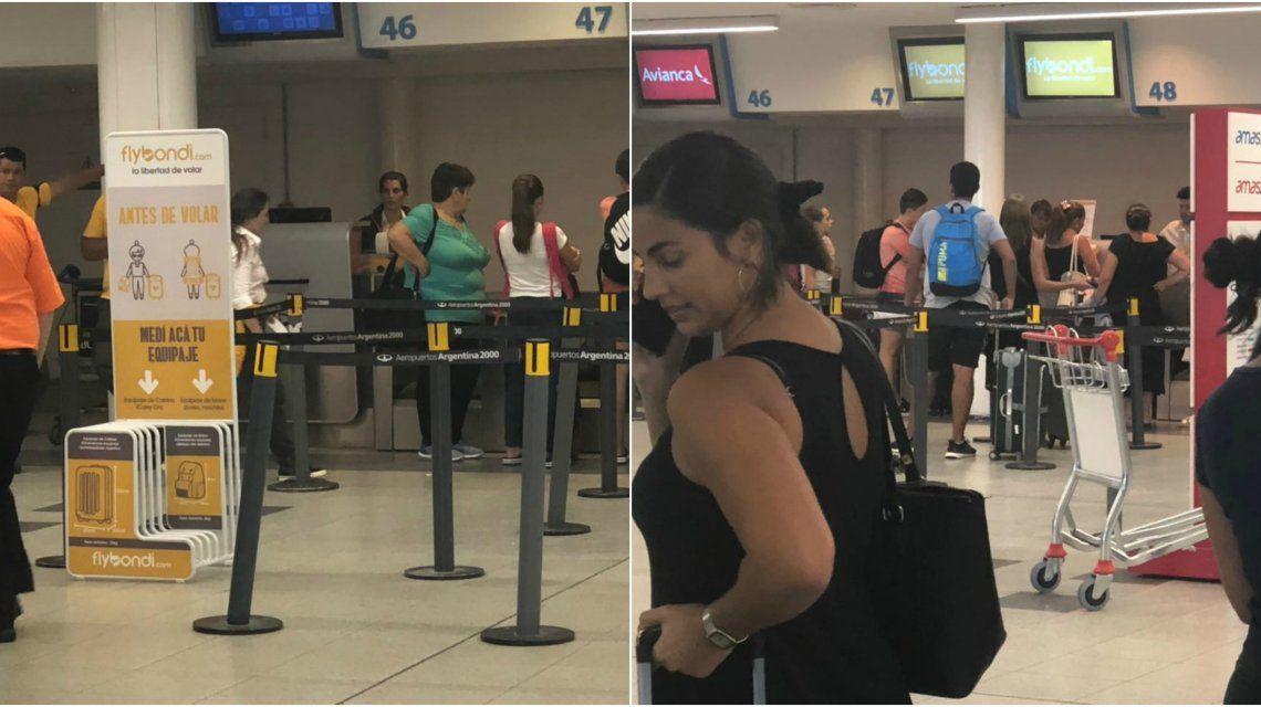 FlyBondi en el Aeroparque Metropolitano