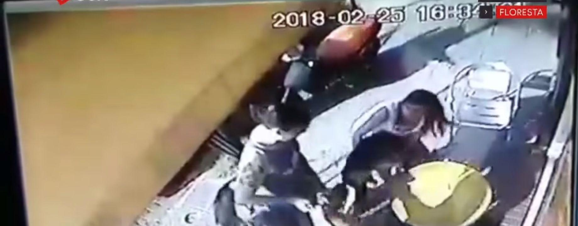 Tomaban un helado en Floresta y fueron atacados por un pitbull sin correa