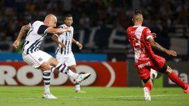 El jugador de 37 años anotó el segundo de la T ante el Bicho (foto: Talleres)