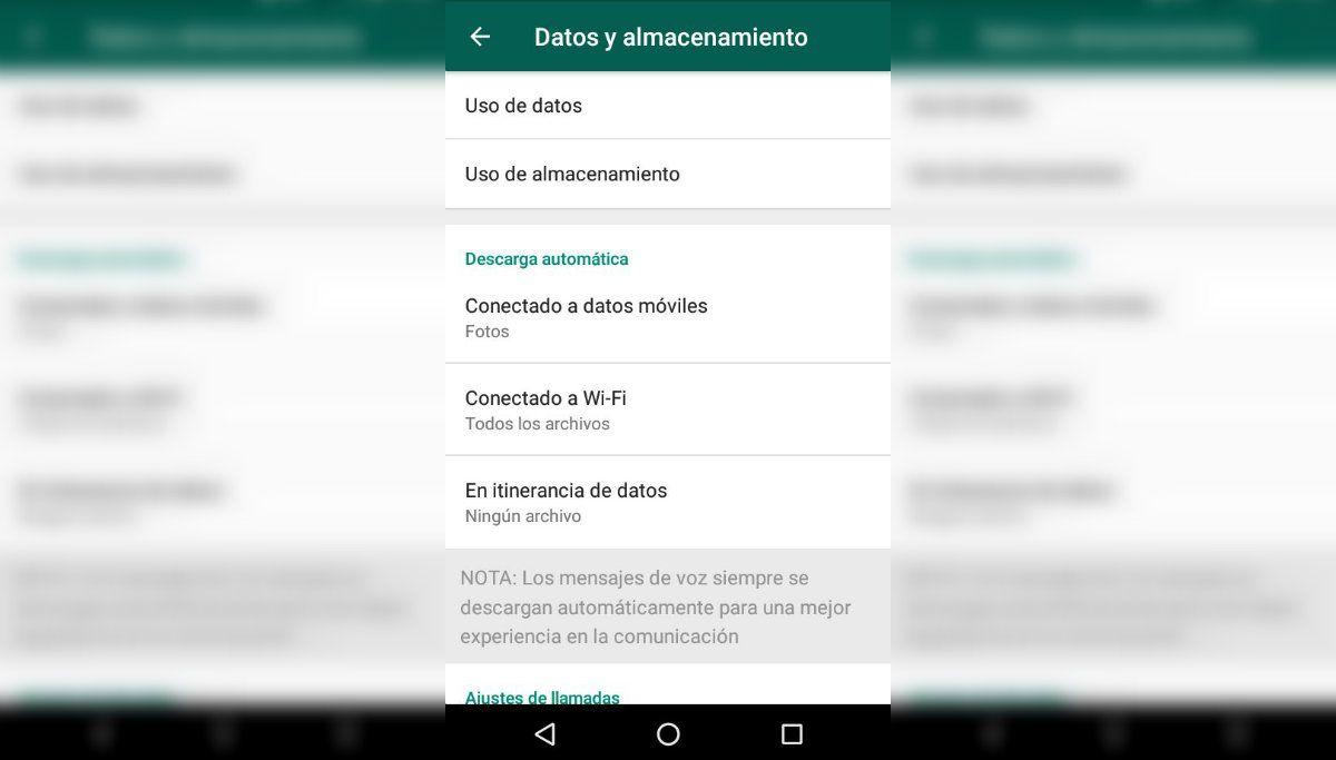 Primer paso para ahorrar datos: chequear la configuración de la aplicación