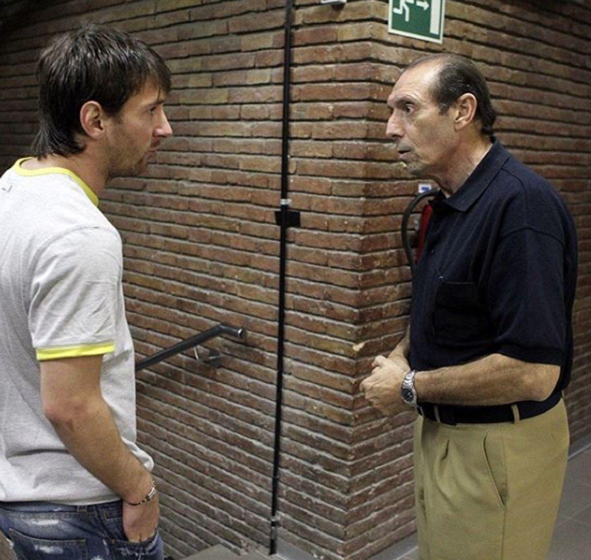 Lionel Messi y Enrique Quini Castro