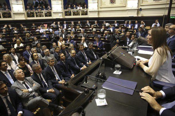 María Eugenia Vidal en la última apertura de sesiones ordinarias<br>