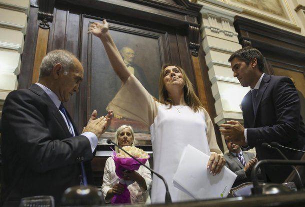 María Eugenia Vidal junto a Daniel Salvador<br>