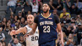 Manu Ginóbili vs New Orleans Pelicans