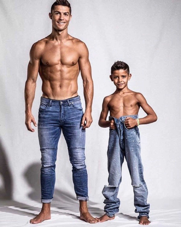 Cristiano Ronaldo y su hijo - Instagram:cristiano