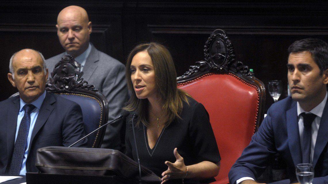 Vidal en la apertura de sesiones de la Legislatura bonaerense.