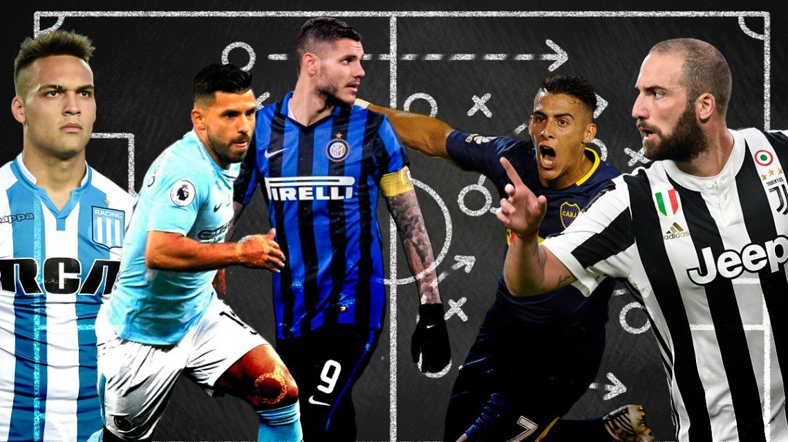 Goles, asistencias y cómo convirtieron: los números de los delanteros de Sampaoli