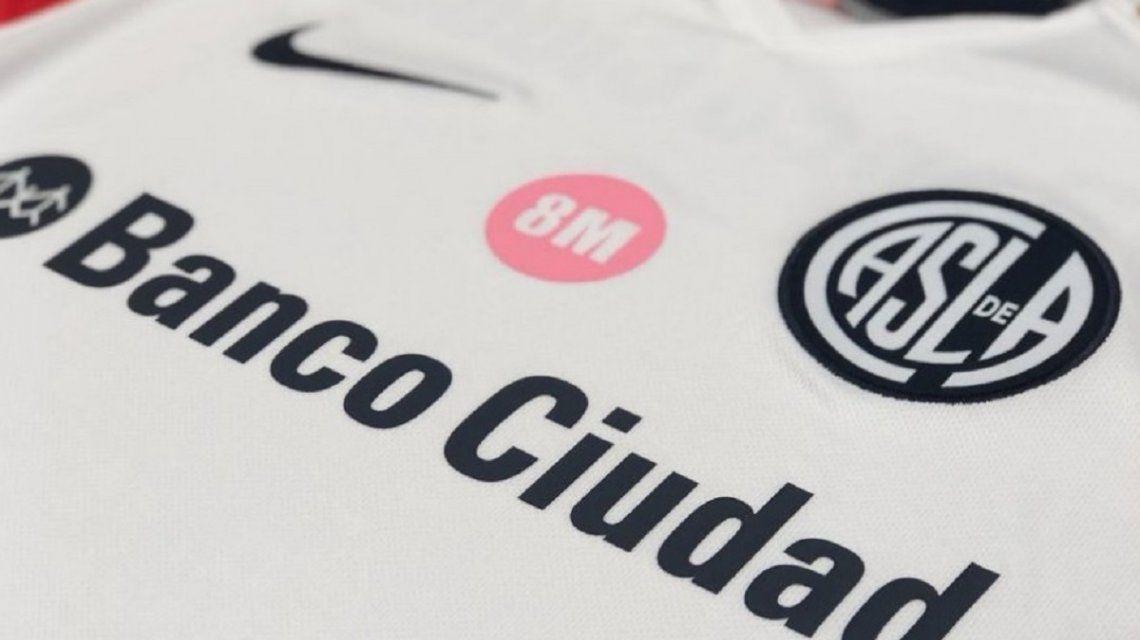 La Camiseta de San Lorenzo por el 8M - Crédito:@SanLorenzo