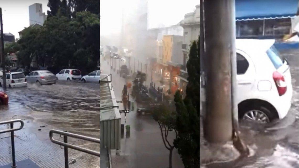 Lluvia e inundación en Mar del Plata
