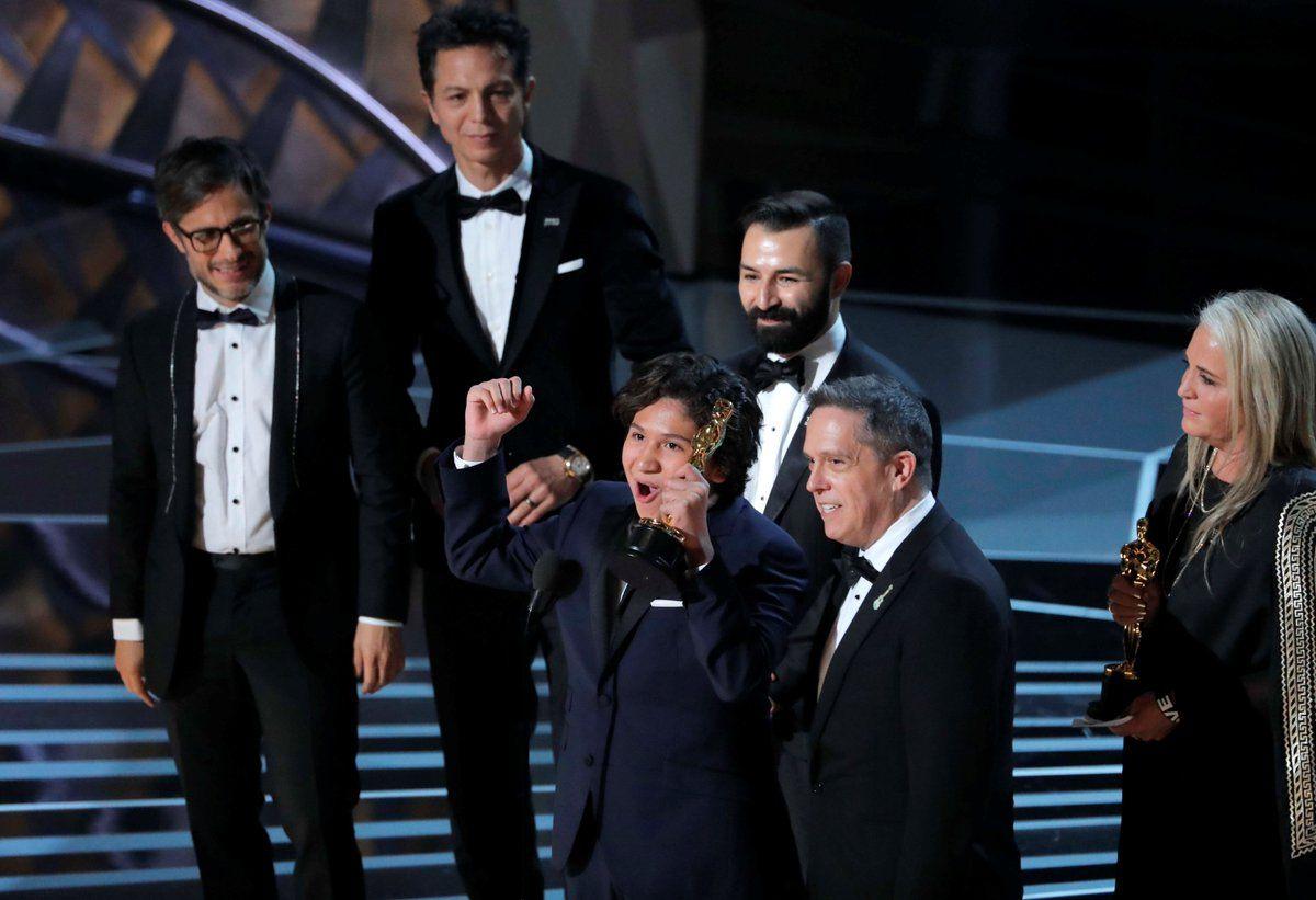 Así recibían el Oscar para Coco