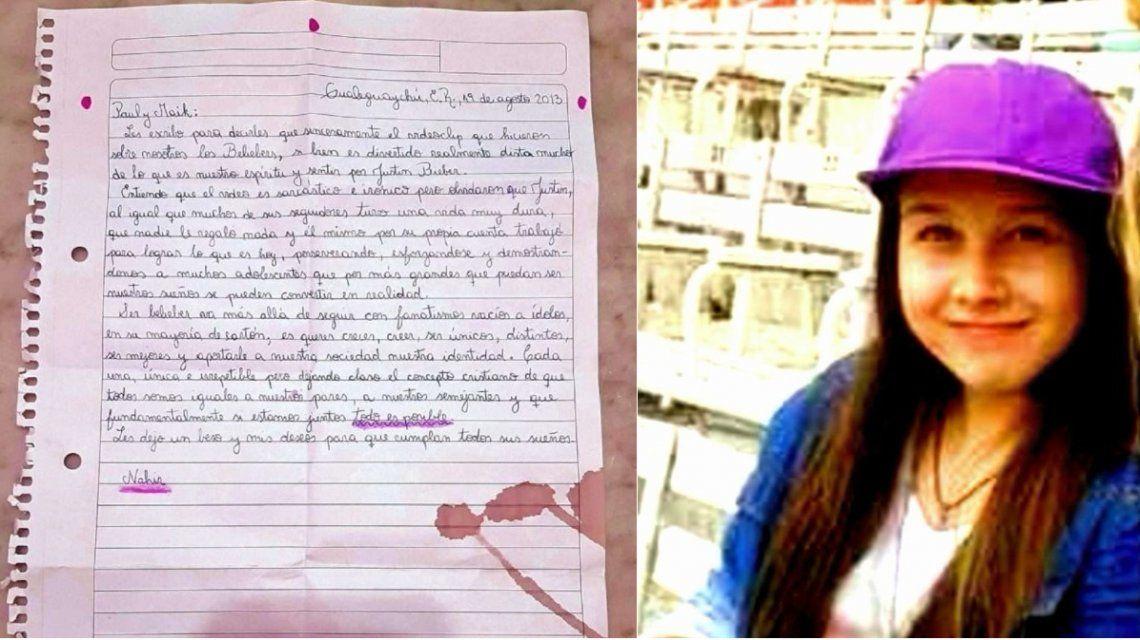 Carta de Nahir Galarza de 2013