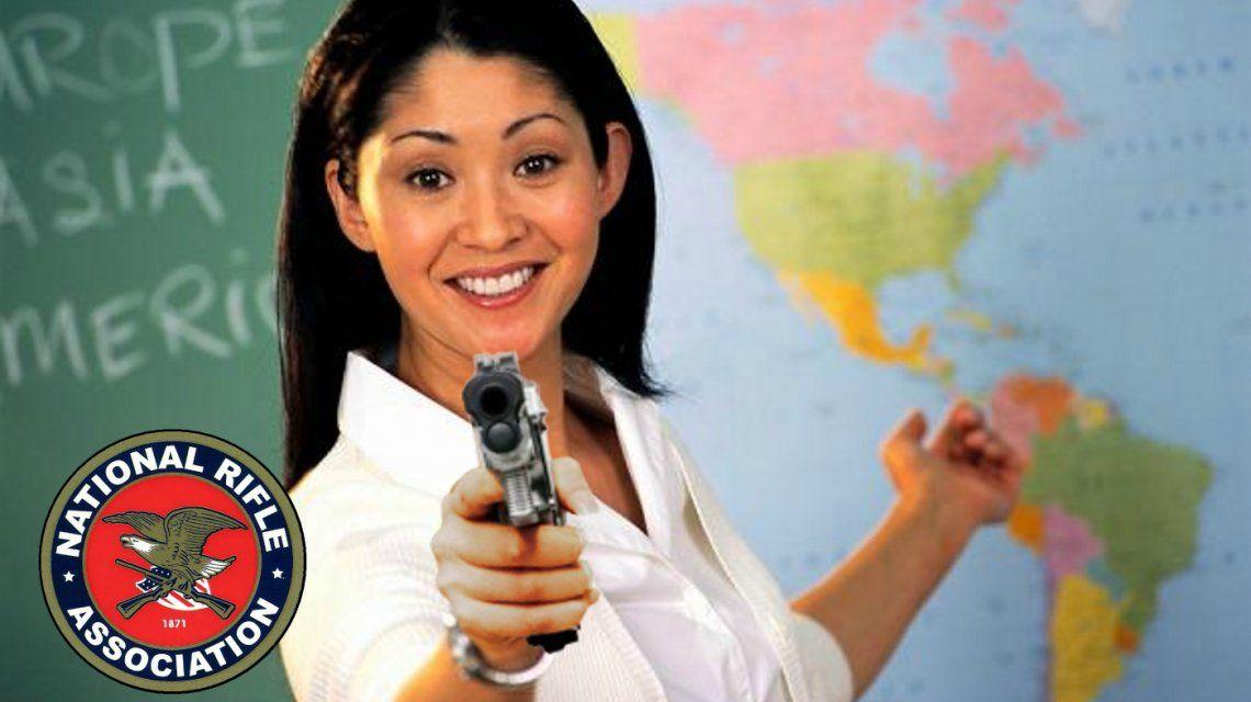 La National Rifle Association promueve armar a los docentes