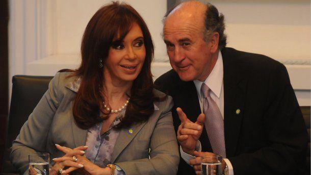 Cristina Kirchner y Oscar Parrilli<br>