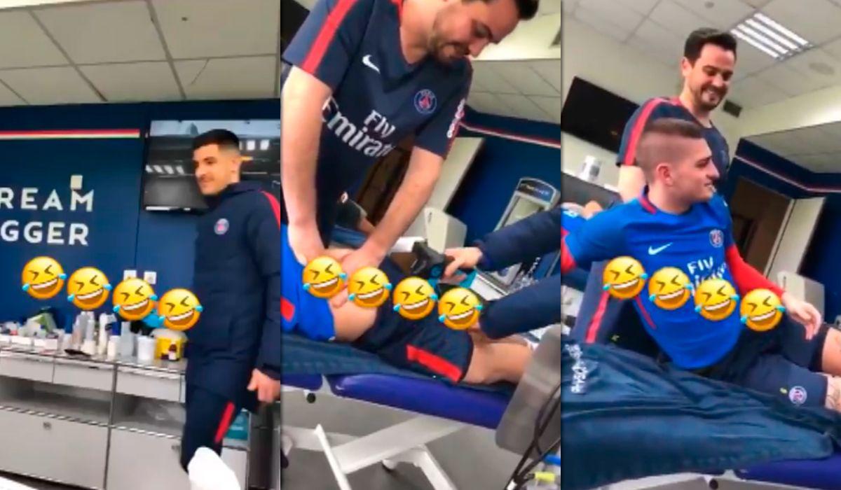 VIDEO: La pesada broma de los jugadores del PSG con un vibrador