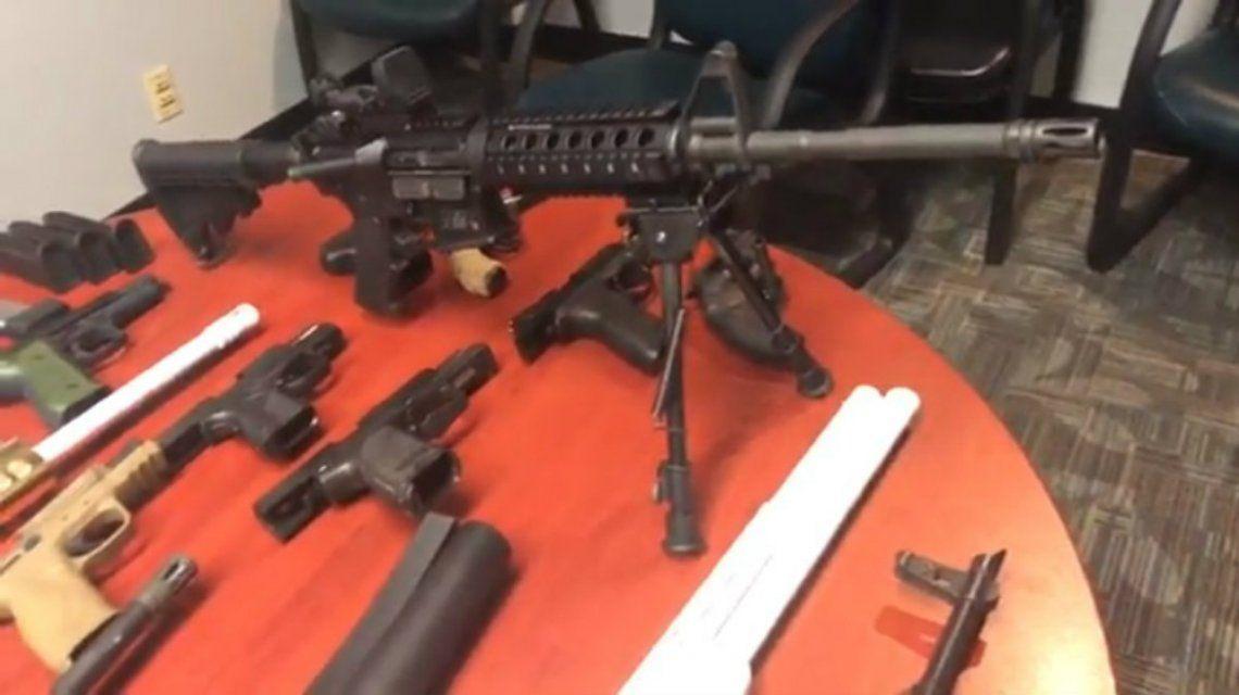 La Policía encontró un arsenal en el departamento de González