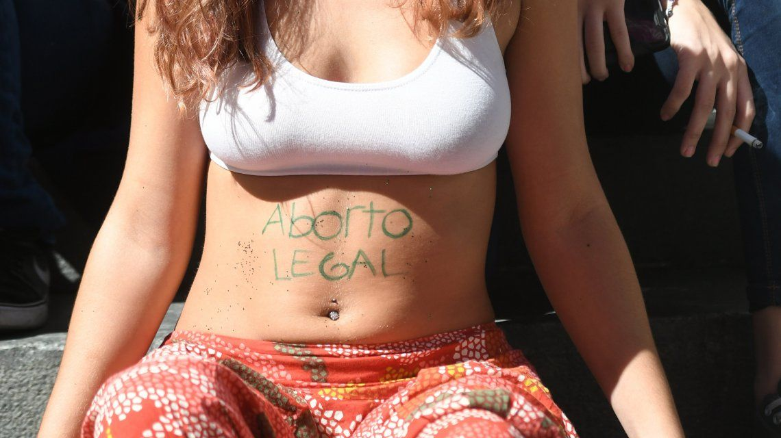 Protesta a favor del aborto legal.