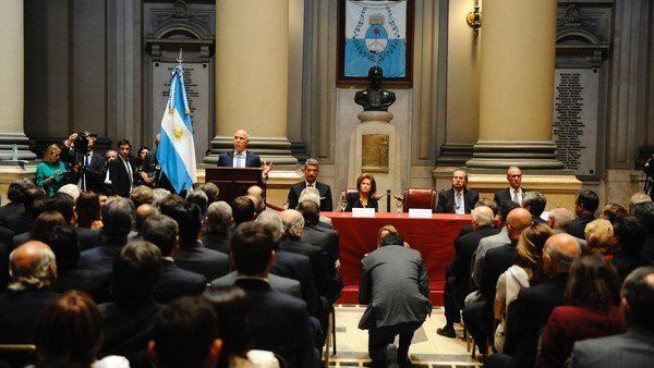 La Corte Suprema de Justicia de la Nación encabezada por su presidente Ricardo Lorenzetti.