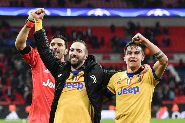 Buffon, Higuaín y Dybala Crédito: @juventusfc<br>