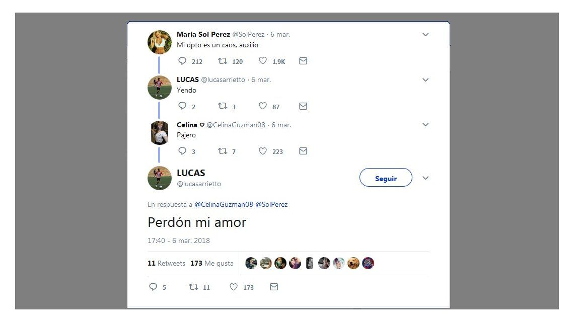 La reacción de la novia del admirador de Sol Pérez