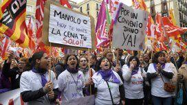 Miles de mujeres se manifestaron en Barcelona y otras ciudades de España